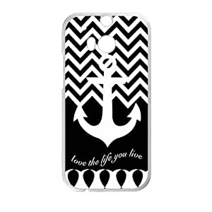 Love the life you live Custom Case for HTC One M8 (Laser Technology) by icecream design