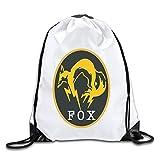Metal Gear MG Fox Badge Sports Drawstring Backpack For Men & Women