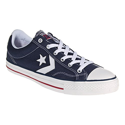 Converse Unisex Star Player (Converse Unisex-adults Star Player Navy/White Shoes - 11 D(M) US / 13 B(M))