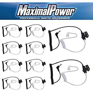 Sale Off Maximalpower 3.5mm Surveillance Plug Coil Tube Earbud Audio Kit for Two-Way Radios RH617-1 N x 10 Pack