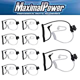 Maximalpower 3.5mm Surveillance Plug Coil Tube Earbud Audio Kit for Two-Way Radios RH617-1 N x 10 Pack
