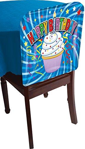Forum Novelties 76118 1 Happy Birthday Cupcake Dessert Chair Cover Party Decoration 1 (Birthday Cover)