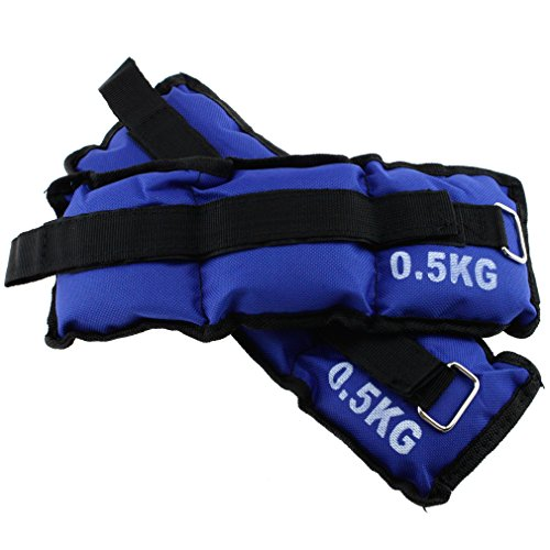 Ankle Weights Resistance Strength Training Wrist Bracelets Straps Gym Practice by SING F LTD