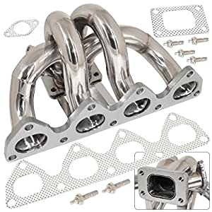 Honda Prelude Bb1 Bb6 H22 2.2L Racing Stainless Steel T3 T4 Turbo Manifold Exhaust Header