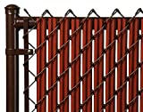 6ft Redwood Ridged Slats for Chain Link Fence