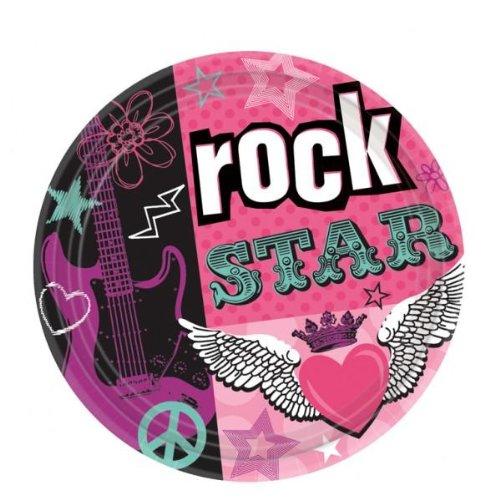 Rock Star Girl Dinner Plates (8-pack)
