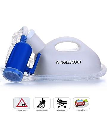 WINGLESCOUT Orinal Adulto, 2000ml 1.3 Metros Reutilizable Portable Urinario Botella Orina Hombre para Hospitales,