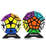Megaminx Speed Cube Puzzle Toy Kilominx 2x2 3x3 Stickers Cube Set Pack with Cube Stand holder Kids Toy Games Christmas Gift Black