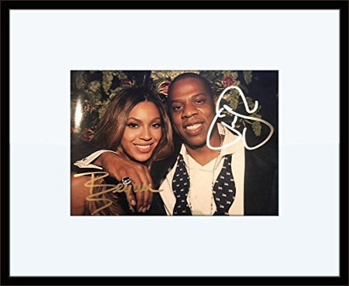 Framed Beyonce Jay-Z Autograph with Certificate of - Beyonce Vintage