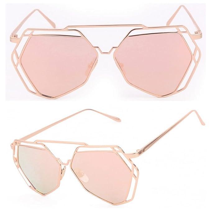 328540839 Doober Women Retro Vintage Shades Oversized Designer Cat Eye Sunglasses  Eyewear (Gold, 5.8)