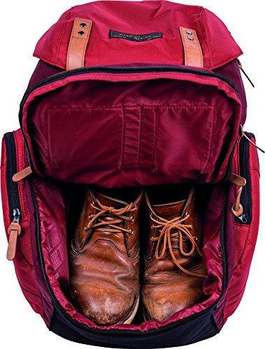 Nitro Weekender Altagsrucksack im Retro Look mit gepolstertem Laptopfach, Schulrucksack, Wanderrucksack oder Streetpack für Kurztrips inkl. Nassfach Rucksack Chili