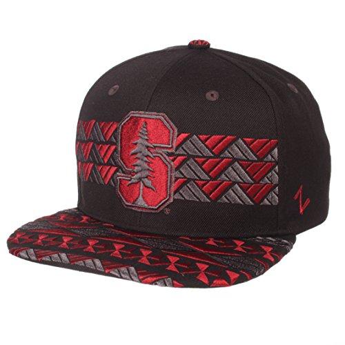 Zephyr Adult Men Kolohe NCAA Snapback Hat, Black/Team Color, Adjustable