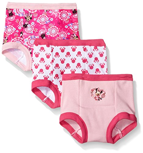 Toddler Training Pants - Disney Baby Girls' Toddler' 3-PACK, Assorted, 2T