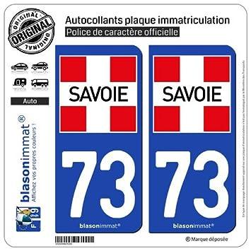 Auto, Moto – Pièces, Accessoires Badges, Insignes, Mascottes 73 Savoie Departement Immatriculation 2 X Autocollants Sticker Autos