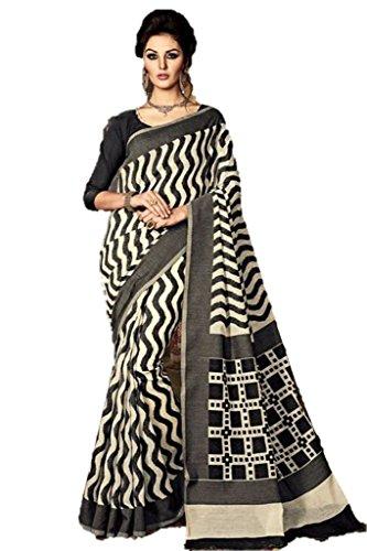 EthnicWear Stylish Hot Selling Black Sari Dress Art Silk Traditional Cultural Women Wear Saree