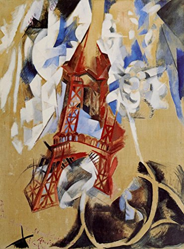 Posterazzi Eiffel Tower 1910 Poster Print by Robert Delaunay (24 x 36)