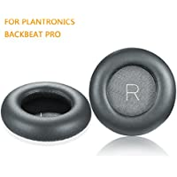 BackBeat Pro Earpads, JARMOR Replacement Protein Leather & Memory Foam Ear Cushion Pad Cover for Plantronics BackBeat Pro Wireless Noise Cancelling Headphones (Grey)