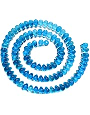 Halcraft Super Bundle - Czech Glass Sapphire 6x9mm Teardrop Beads - 432 Pieces Total (144 Pieces per Strings) - for Jewelry Making
