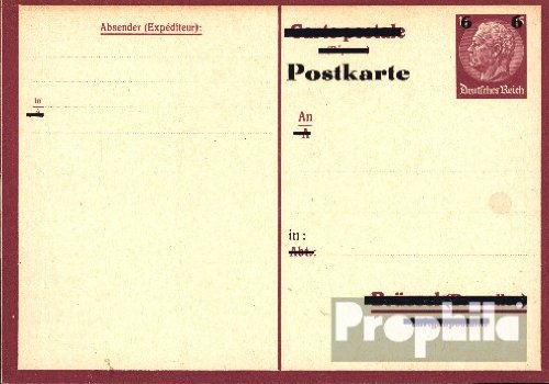 German Empire P244b A Official Postcard 1943 Hindenburg (documents philatelic covers for collectors)