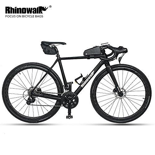 Rhinowalk Waterproof Bike Saddle Bag Bicycle Bag Under seat Bag Rainproof Mountain Road Bike Seat Bag Bicycle Bag Professional Cycling Accessories (Carbon-Black) by Rhinowalk (Image #5)