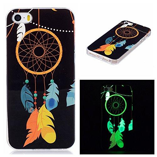 iPhone 5 5S SE Schutzhülle , LH Campanula TPU Weich Muschel Tasche Schutzhülle Silikon Hülle Schale Cover Case Gehäuse für Apple iPhone 5 5S SE