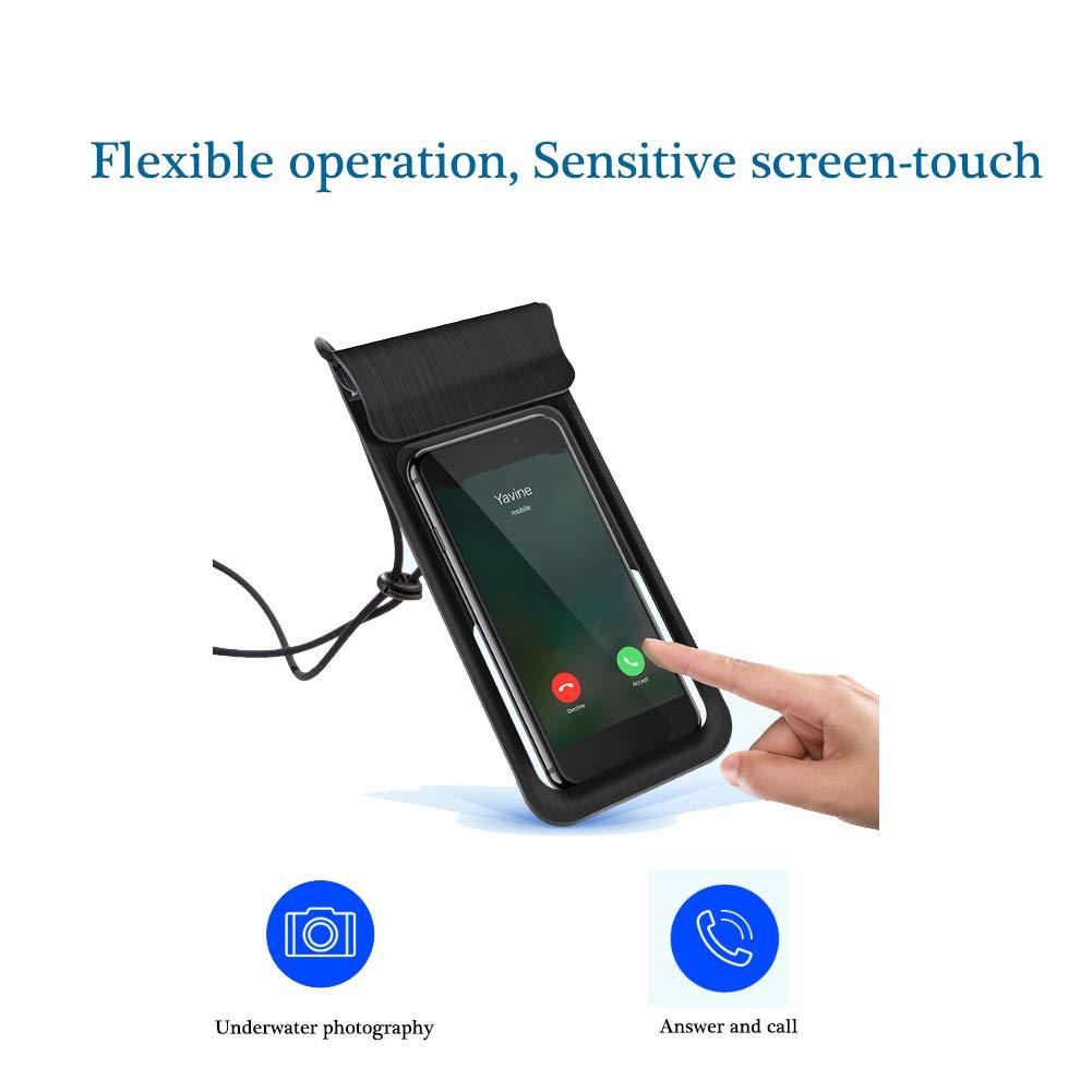 Meiwash Custodia impermeabile per telefono Scatole impermeabili da immersione IPX8 Custodia Impermeabile Universale con cordino adatto per telefoni cellulari con dimensioni dello schermo inferiori a 6 pollici
