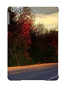 Ipad Air Case Slim [ultra Fit] Road In The Sunset Light Protective Case Cover(best Gift Choice For Friends)