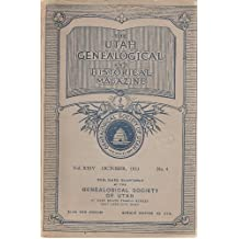 Amazon archibald f bennett books the utah genealogical and historical magazine october 1933 vol xxiv no 4 fandeluxe Gallery
