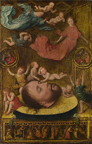 Oil Painting 'Jan Mostaert The Head Of Saint John The Baptist' 8 x 12 inch / 20 x 32 cm , on High Definition HD canvas prints is for Gifts - Phase John Lewis Eight