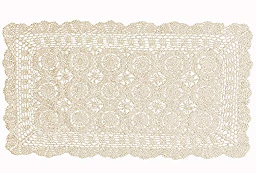 Laivigo Handmade Crochet Lace Rectangle Lucky Flower for sale  Delivered anywhere in USA