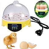 Cheesea Egg Incubators for Hatching 7 Eggs Digital Transparent Chicken Duck Goose Egg Incubator