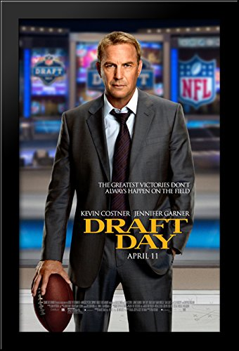 Draft Day 28x40 Large Black Wood Framed Print Movie Poster Art by ArtDirect