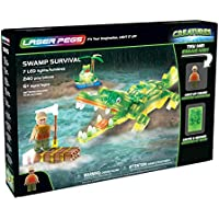 Laser Pegs Swamp Survival Light-Up Building Block Playset...