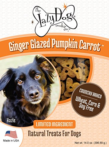 Lazy Dog Cookie Co.. Ginger Glazed Pumpkin Carrot - Crunchy Baked Dog Treat ()