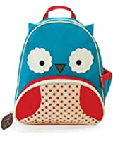 Skip Hop Zoo Toddler Kids Insulated Backpack Otis Owl, 12-inches, Blue