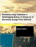 Patnubay nang Cabataan ó Talinhagang Buhay ni Eliseo at ni Hortensio (large Print Edition), Joaquin Tuason, 1426425090