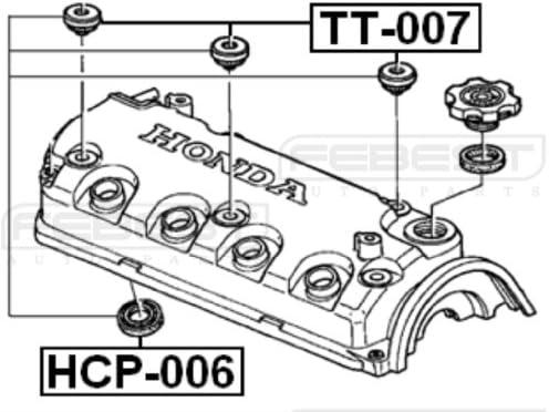 febest – Honda culata bujía guía – OEM: 12342-rye-004