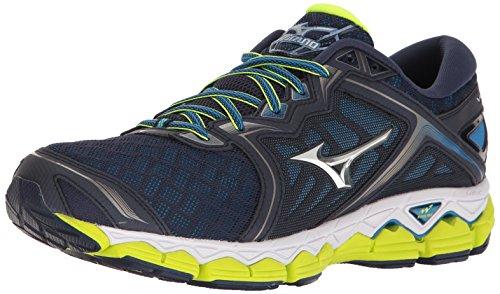 Mizuno Men's Wave Sky Running-Shoes - Peacoat/Silver/Safe...