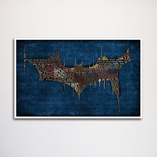 Batman Dark Knight word art print -11x17