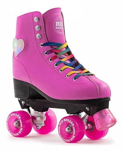 UK2J EU34 US3 SFR Figure Quad Skates White//Pink
