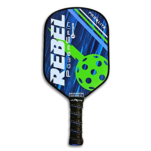 ProLite Rebel PowerSpin Pickleball Paddle - Bowie Blue / Jagger Green by Pro-Lite