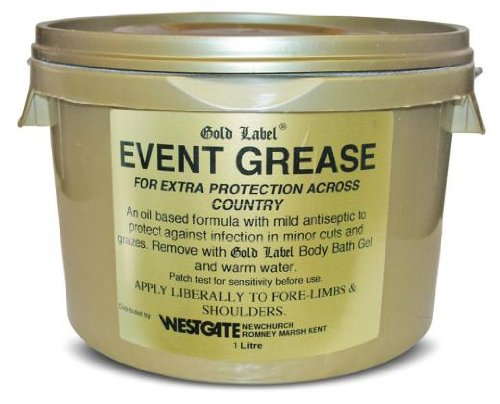Gold Label Event Grease, 1L - Mild anti-bacterial to protect against infection in minor cuts and bruises