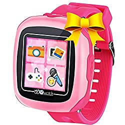Kids Smart Watches with Games, 1.5 Touch Children Tracker Pedometer Step Count Wristwatch Digital Timer Alarm Stop Sports Clock Health Monitor Outdoor Birthday Gifts for Boy Girl (Pink)