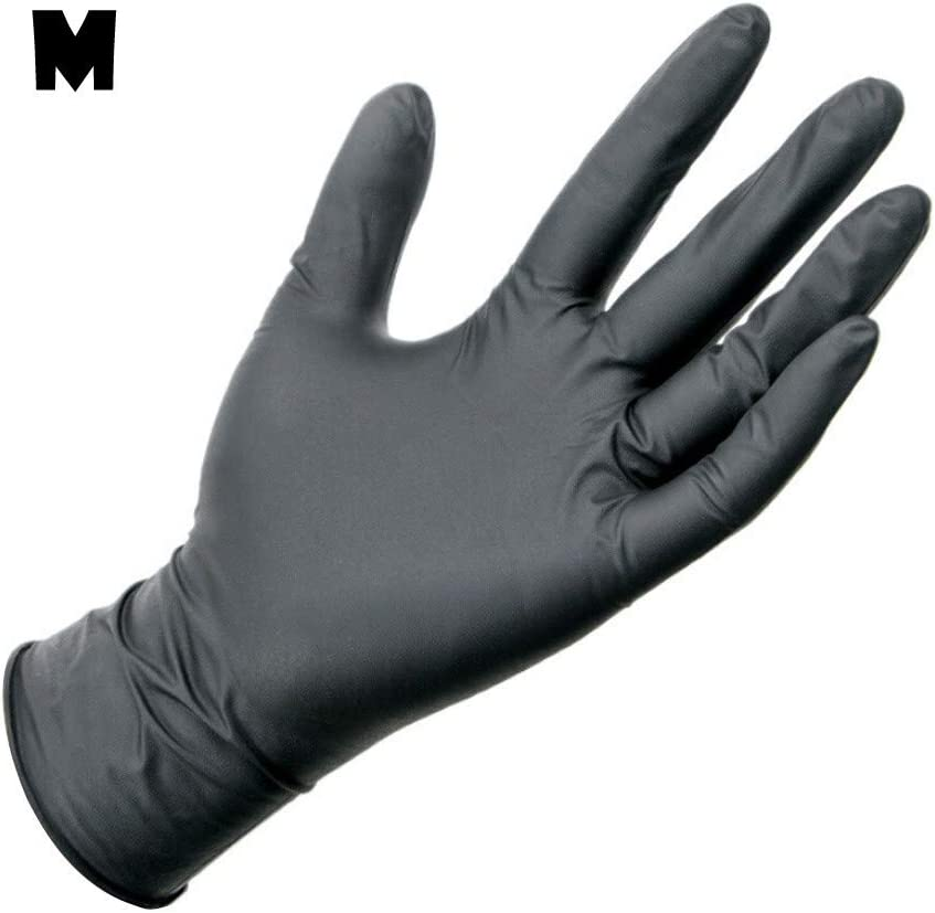 Disposable Rubber Gloves 100 pcs Nitrile Gloves Raven Black Comfortable Protective Convenient Comfortable Mechanic Tatoo Latex Gloves PVC Gloves Powder Free
