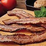 Fully Cooked Bacon, Ready to Eat, 80 Slices Per Pack/Case, 10 Year Shelf Life, Superior to Canned, Real Thick Cut, 2+ Pounds, No Refrigeration Needed, Grocery, Long Term Storage, Camp, Hunt, Lunch