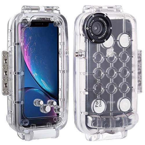 2019年最新海外 HAWEEL スマホ防水ケース 40m/ 130ft防水ダイビングハウジングIPX8防水認定 360度全方位保護 写真ビデオ水中撮影用カバーケースiphone 40m/ iPhone x s HAWEEL maxに対応 携帯電話スマートフォンアクセサリ B07N2S7B2H iPhone XR用 透明, 古本買取本舗:16a22174 --- lightinglogistics.co.za
