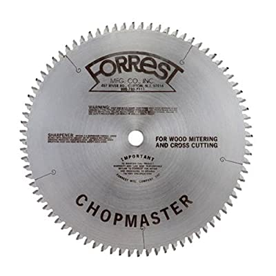 Image of Forrest CM12806115 Chopmaster 12-Inch 80-tooth ATB Miter Saw Blade with 1-Inch Arbor Home Improvements
