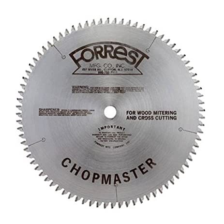 Amazon forrest cm12806115 chopmaster 12 inch 80 tooth atb forrest cm12806115 chopmaster 12 inch 80 tooth atb miter saw blade with 1 greentooth Image collections