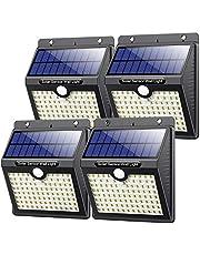 VOOE solarlampen voor buiten, met bewegingsmelder, hoge kwaliteit, 97 leds, 1000 lumen, zonnelamp voor buiten, 2200 mAh, waterdichte wandlamp, LED, zonnelamp, voor buiten, 4 stuks