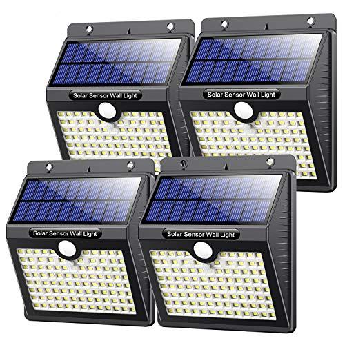 Vooe solarlampen voor buiten, met bewegingsmelder, hoge kwaliteit, 97 leds, 1000 lumen, zonnelamp voor buiten, 2200 mAh…